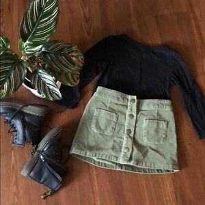 18 mo hunter green skirt